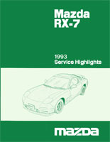 1993 RX-7 Service Highlights